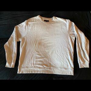 All Saints Distressed Crew Neck Knit Sweater - L